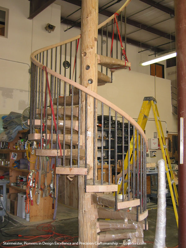 there wood handrail on wrought iron began removing any exist