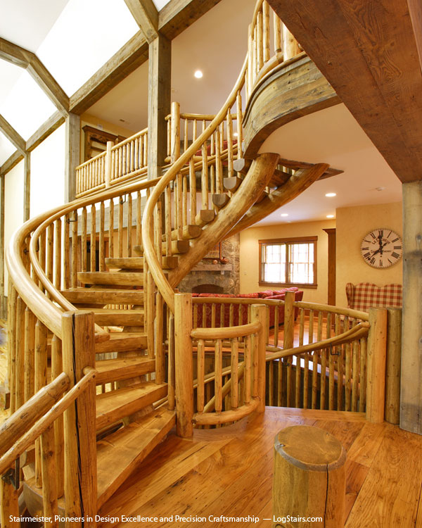 house with wood on Elegant Wood Stair with classic design